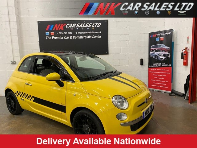 USED 2012 12 FIAT 500 1.2 LOUNGE 3d 69 BHP PAN ROOF LOW MILEAGE ONLY DONE 55K LOVELY CONDITION MUST BE SEEN AIR CON ELECTRIC WINDOWS