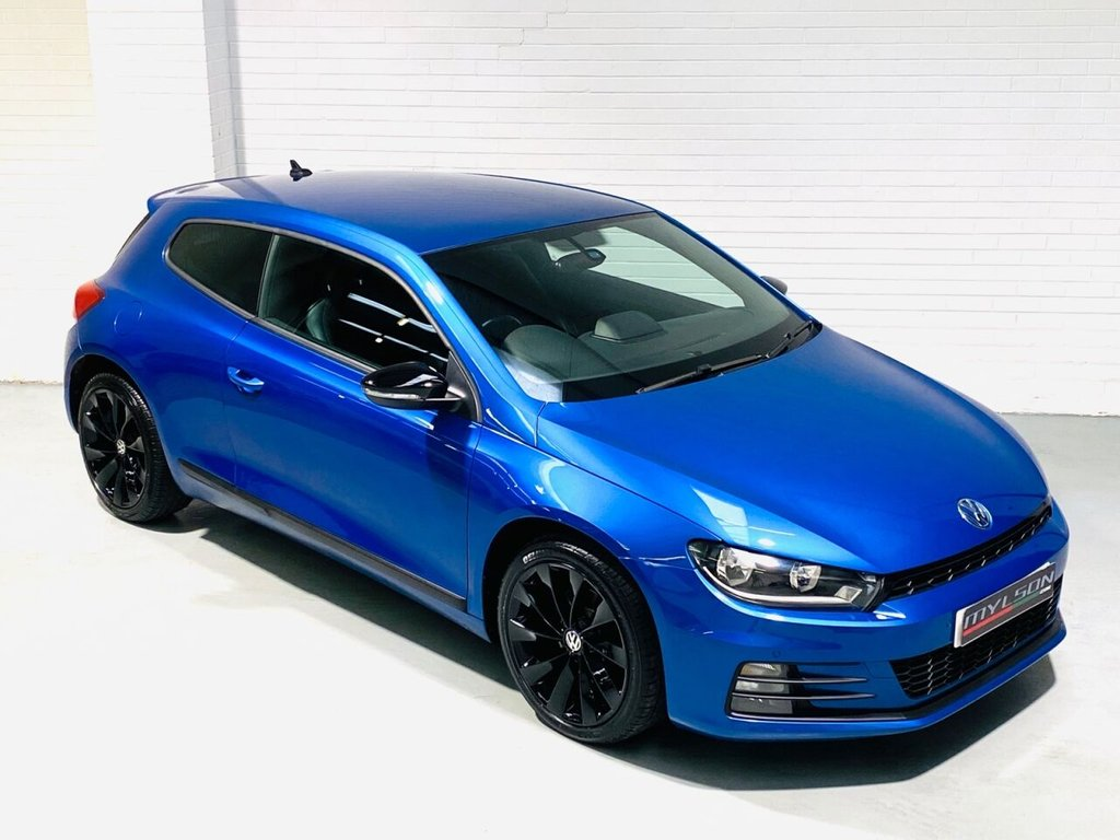 USED 2015 15 VOLKSWAGEN SCIROCCO 2.0 GT TDI BLUEMOTION TECHNOLOGY 2d 150 BHP Rising Blue with Black Interior, Gloss Black Wheels & Mirrors