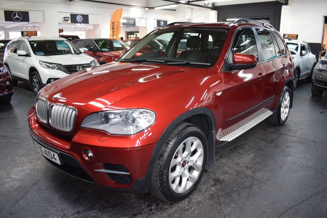 USED 2012 62 BMW X5 XDRIVE 3.0D SE 245 Bhp STUNNING LOW MILEAGE EXAMPLE - PRIVATE PLATE INCL - 4 STAMPS TO 58K - LEATHER - NAV - HEATED SEATS - SIDE STEPS