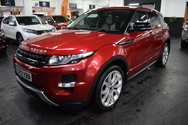 USED 2012 12 LAND ROVER RANGE ROVER EVOQUE 2.2 SD4 DYNAMIC 5d 190 BHP 4X4  LOVELY CONDITION - 6 STAMPS TO 84K - 190 BHP - 4X4 - TWO TONE LEATHER - GLASS ROOF - HEATED SEATS - PRIVACY - 20 INCH ALLOYS