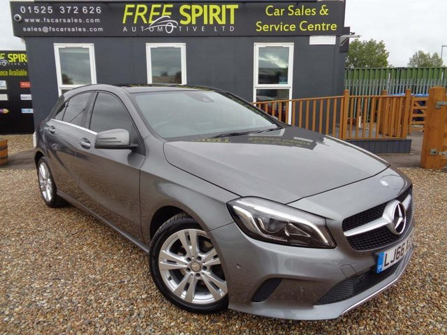 USED 2016 66 MERCEDES-BENZ A-CLASS 1.6 A180 Sport (Premium Plus) 7G-DCT (s/s) 5dr Pan Roof-Leather-Nav-Rear Cam