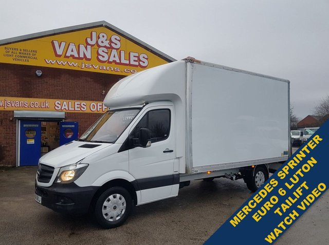 USED 2016 66 MERCEDES-BENZ SPRINTER  140 BHP EURO 6 LUTON T/LIFT L.W.B 1 OWNER  BIG STOCK EURO 6 OVER VANS OVER 100 ON SITE