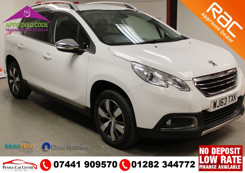 """USED 2014 63 PEUGEOT 2008 1.6 E-HDI ALLURE 5d 92 BHP RAC PLATINUM WARRANTY INCLUDED + **Key Spec**  Dual Zone Automatic Air Conditioning + Steering Wheel Mounted Remote Controls + DAB Digital Radio + Electric Windows + Electric Heated Folding Chrome Door Mirrors + Good Tyres All + Round With 16"""" Hydre Alloy Wheels + USB Interface + Rear Outer Seat Isofix Points + Bluetooth System"""