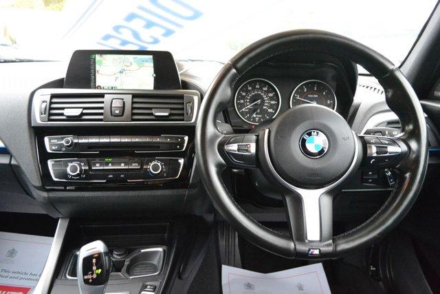 USED 2016 16 BMW 1 SERIES 2.0 120D M SPORT 5d 188 BHP ~ HARON KARDON ~ LEATHER ~ NAV SAT NAV ~ BLACK LEATHER ~ HARMON KARDON ~ 2 KEYS