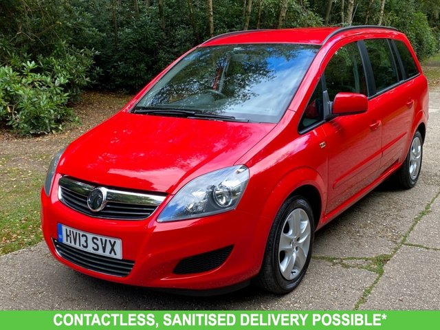 USED 2013 13 VAUXHALL ZAFIRA 1.6 EXCLUSIV 5d 113 BHP AIR CON LOW MILEAGE FINANCE ME TODAY-UK DELIVERY POSSIBLE