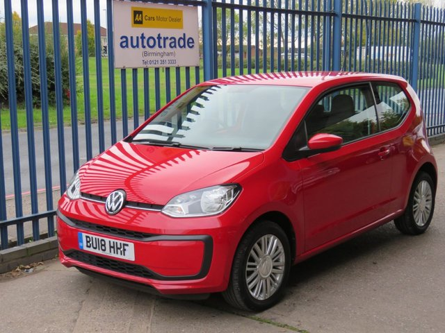 USED 2018 18 VOLKSWAGEN UP 1.0 MOVE UP 3d 60 BHP Low Mileage-Low Insurance-Great Economy