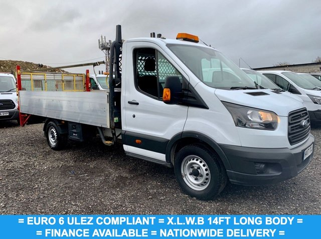 USED 2017 17 FORD TRANSIT 2.0 350 L5 DROPSIDE WITH TAIL LIFT  129 BHP