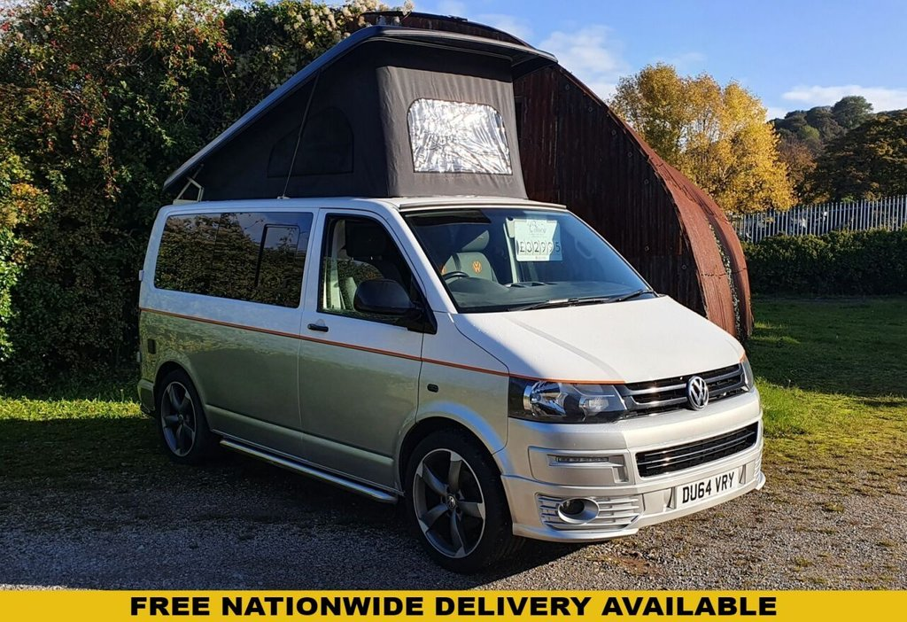 USED 2014 64 USED VOLKSWAGEN TRANSPORTER T5 CAMPER T28 HIGHLINE 101 BHP 4B BRAND NEW 4 BERTH CONVERSION