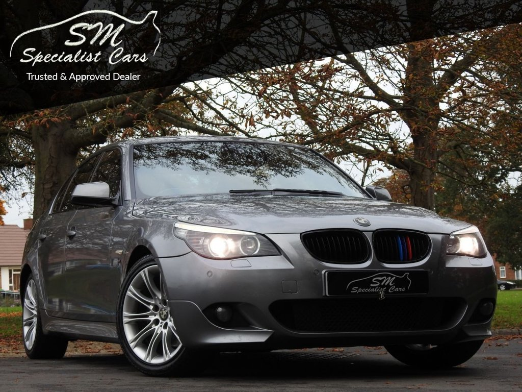 USED 2009 59 BMW 5 SERIES 2.0 520D M SPORT BUSINESS EDITION 4d 175 BHP LEATHER A/C DRIVES SUPERB