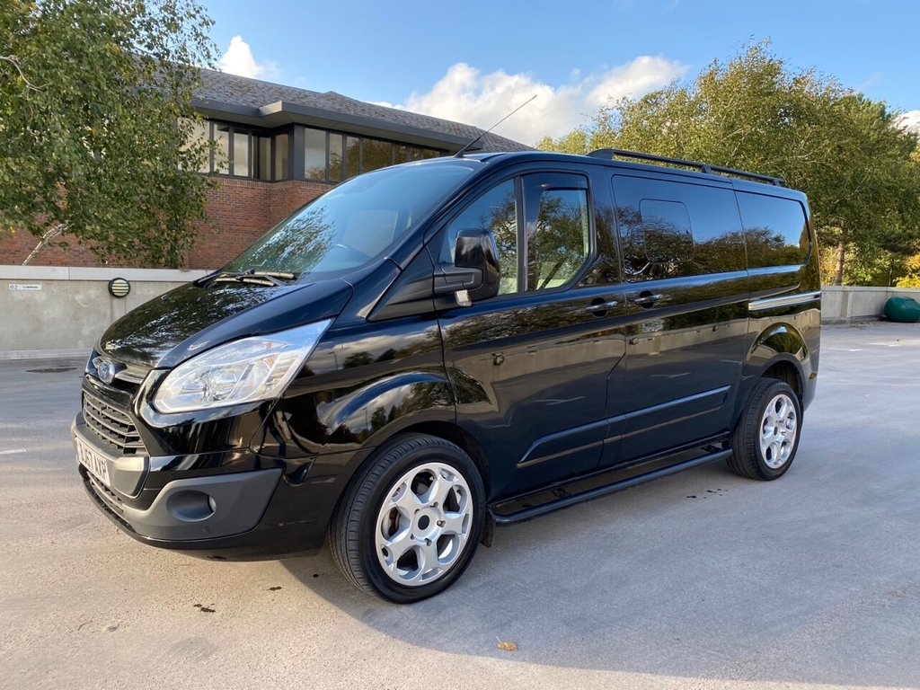 USED 2017 67 FORD TRANSIT CUSTOM 290 LIMITED 2.0 EURO 6 129ps L1H1 CREW CAB NO VAT *EXCELLENT SPEC*MINT CONDITION* SENSORS-AIRCON-LIMITED-NO VAT