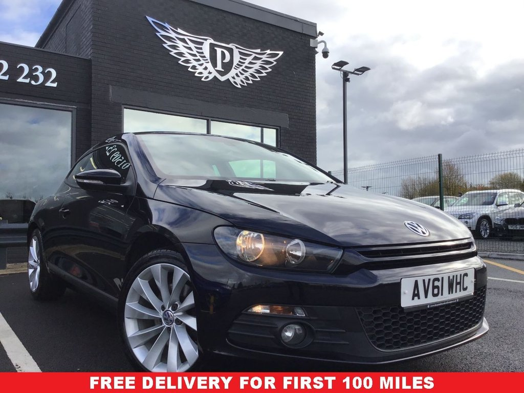 USED 2011 VOLKSWAGEN SCIROCCO 2.0 GT DSG 3d 211 BHP FULL SERVICE HISTORY, CLEAN EXAMPLE , LOW MILEAGE