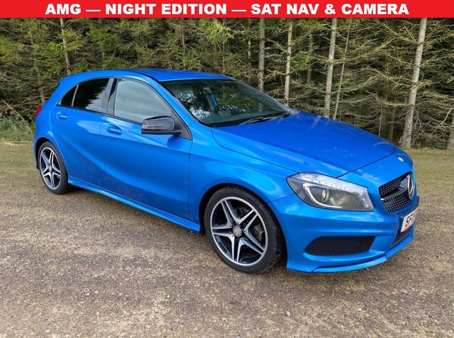 USED 2015 15 MERCEDES-BENZ A-CLASS 2.1 A200 CDI AMG NIGHT EDITION 5d 134 BHP AMG — NIGHT EDITION — SAT NAV & CAMERA
