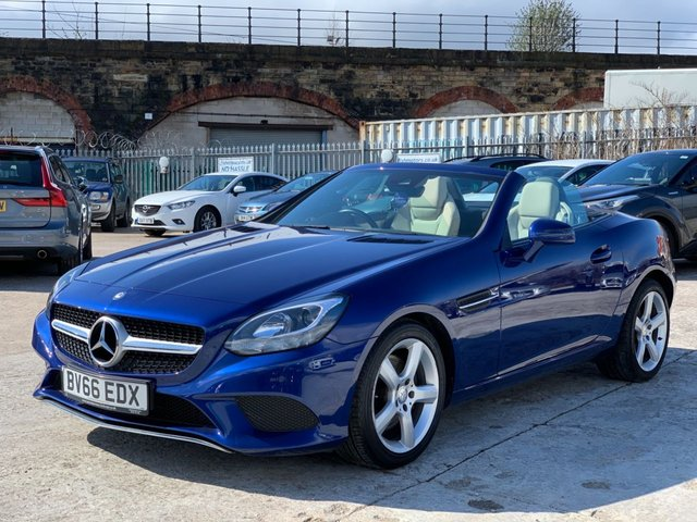 USED 2016 66 MERCEDES-BENZ SLC 2.0 SLC 200 SPORT 2d 181 BHP WILL COME WITH 12 MONTHS MOT- 1 OWNER+2 KEYS+AIR CONDITIONIG+NAVIGATION READY+LEATHER SEATS+ELECTRIC WINDOWS+BLUETOOTH+USB+AUXILIARY+MEDIA+CLEANCAR+ELECS+HPI CLEAR+VOSA MOT HISTORY, CLEAN +GREAT DRIVE+GOOD MPG