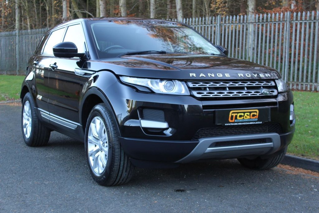 USED 2015 15 LAND ROVER RANGE ROVER EVOQUE 2.2 SD4 PURE 5d 190 BHP A CLEAN EXAMPLE WITH BLACK LEATHER, PANORAMIC GLASS ROOF AND MERIDIAN AUDIO!!!