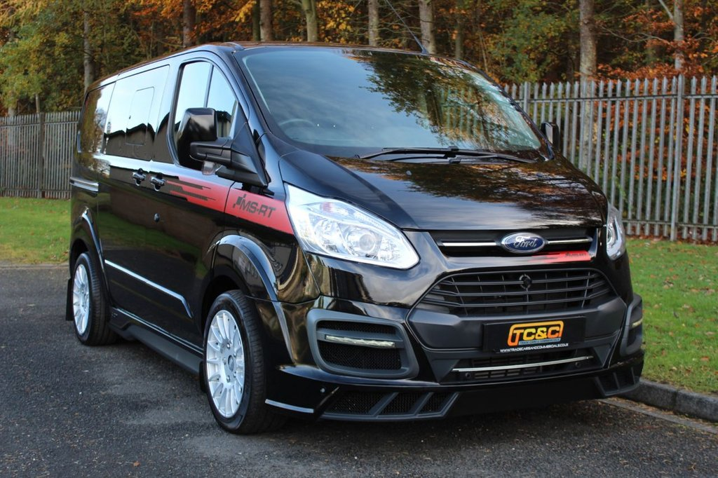 USED 2018 68 FORD TRANSIT CUSTOM 2.0 290 MS-RT M SPORT LR DCB 168 BHP A GENUINE VERY LOW MILEAGE MS-RT 6 SEAT COMBI VAN WITH NO VAT TO BE ADDED!!!