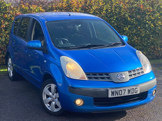 USED 2007 07 NISSAN NOTE 1.6 SVE 5d RECENTLY SERVICED, MOT UNTIL OCTOBER 2021, ELECTRIC FOLDING MIRRORS, PRIVACY GLASS