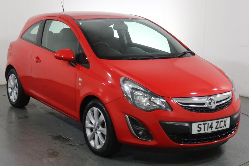 USED 2014 14 VAUXHALL CORSA 1.2 EXCITE 3d 83 BHP 3 OWNERS with 5 Stamp SERVICE HISTORY