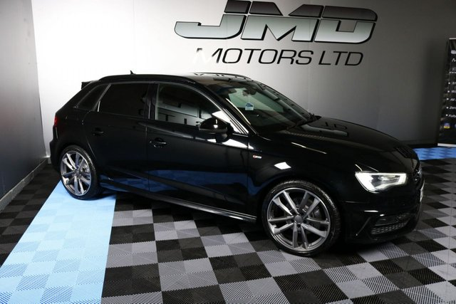 USED 2015 65 AUDI A3 NOVEMBER 2015 AUDI A3 2.0 TDI QUATTRO S LINE BLACK EDITION STYLE 5d 182 BHP (FINANCE AND WARRANTY)