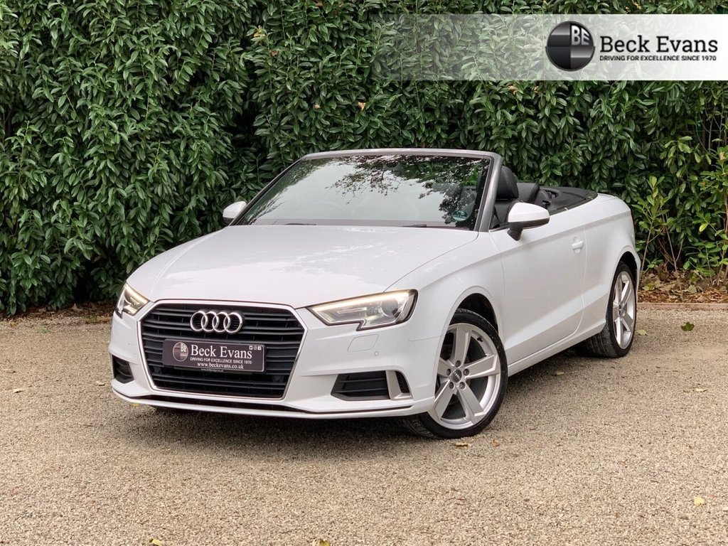 USED 2017 17 AUDI A3 CABRIOLET 1.4 TFSI SPORT 2d 148 BHP FULL LEATHER