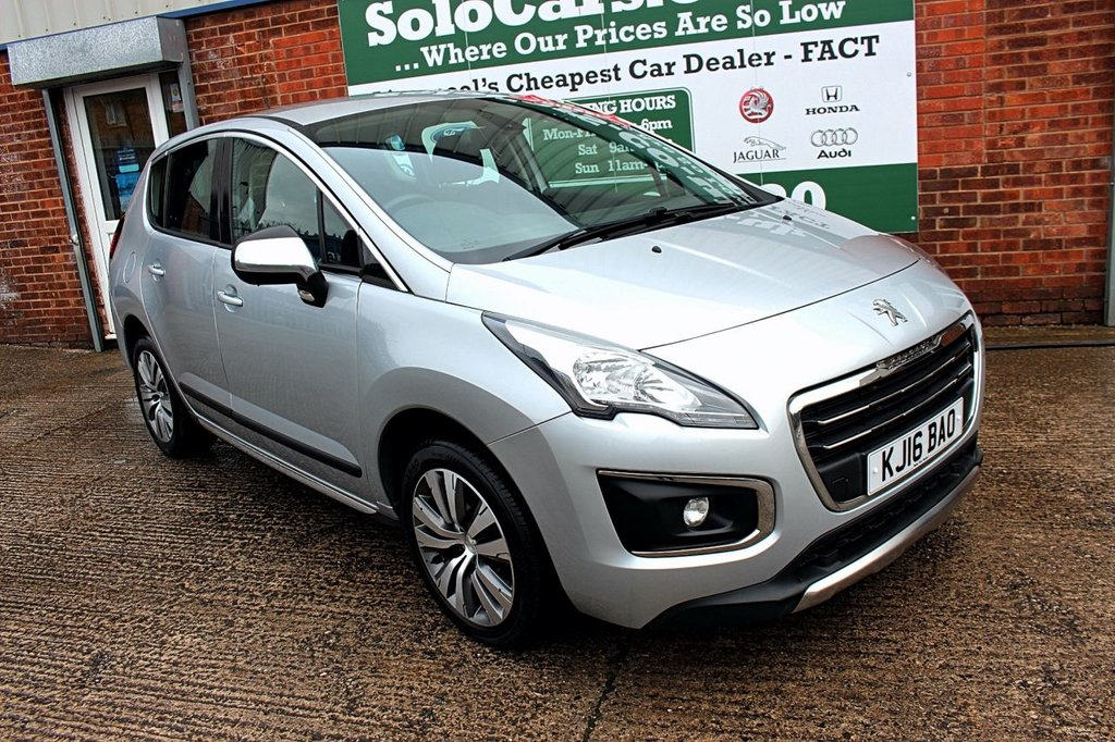 USED 2016 16 PEUGEOT 3008 1.6 E-HDI ACTIVE 5d 115 BHP +AUTOMATIC +SERVICED +MOT.
