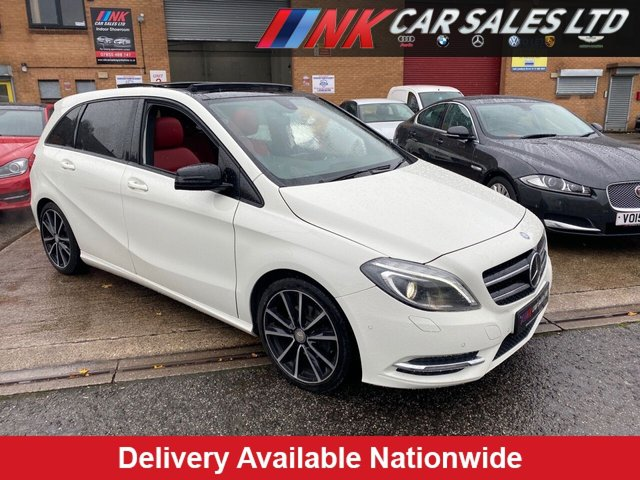 USED 2013 63 MERCEDES-BENZ B-CLASS 1.8 B180 CDI BLUEEFFICIENCY SPORT 5d 109 BHP PAN ROOF RED LEATHERS VERY RARE SPEC COLOUR COMBINATION  FULL MERCEDES BENZ SERVICE HISTORY