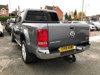 USED 2015 15 VOLKSWAGEN AMAROK 2.0 DC TDI HIGHLINE 4MOTION 4dr 5 Seat Double Cab Pickup AUTO. Recent Service plus MOT now Ready to Finance and Drive Away Today A FANTASTIC PICK-UP WITH ONE FORMER KEEPER AND A GREAT SERVICE HISTORY