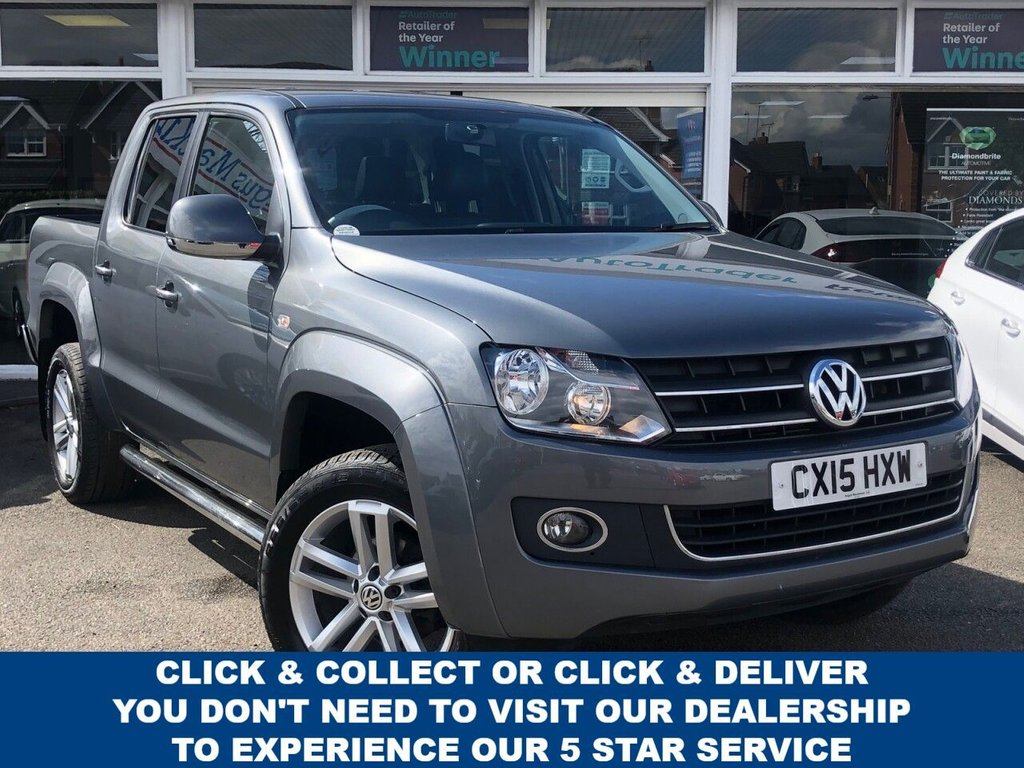 USED 2015 15 VOLKSWAGEN AMAROK 2.0 DC TDI HIGHLINE 4MOTION 4dr 5 Seat Double Cab Pickup AUTO. Recent Service plus MOT & Cambelt Replaced Nov 2020 now Ready to Finance and Drive Away Today This incredible versatile Volkswagen Amarok 2.0 is waiting for you...
