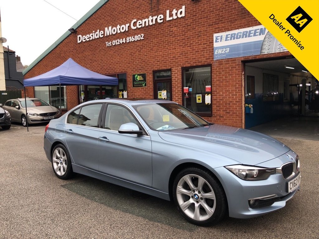 USED 2012 62 BMW 3 SERIES 2.0 320D LUXURY 4d 184 BHP BMW service history :   Electric sunroof    :    Bluetooth    :    Sat Nav    :    Leather upholstery    :    Isofix fittings    :    BMW Sport / Comfort / Eco Pro Driving modes   :   Front + rear parking sensors