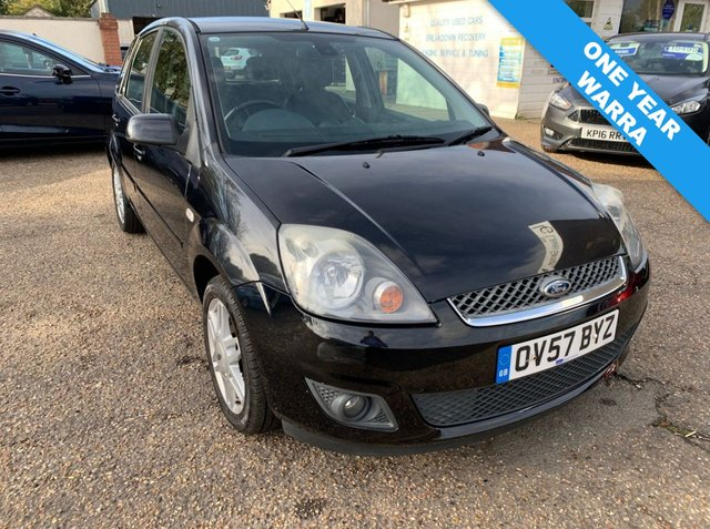 USED 2007 57 FORD FIESTA 1.4 GHIA TDCI 5d 68 BHP CAM BELT / WATER PUMP DONE 2018 / COMPREHENSIVE SERVICE HISTORY /  MOT AUG 21