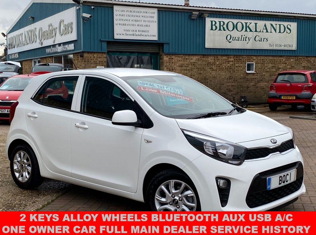 USED 2019 68 KIA PICANTO 1.0 2 5 Door Clear White 7155 Miles From New One Owner Car Full Kia Service History 66 BHP  2 Keys Alloy Wheels Bluetooth Aux Usb  A/C One Owner Car Full Main Dealer Service History