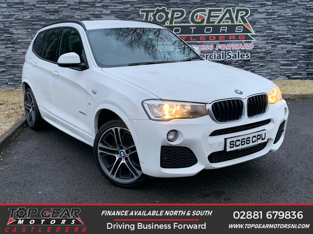 USED 2016 66 BMW X3 2.0 190 BHP  XDRIVE20D M SPORT AUTO **OVER 100 VEHICLES IN STOCK** **X-DRIVE, REVERSE CAMERA, ELECTRIC TAIL GATE**