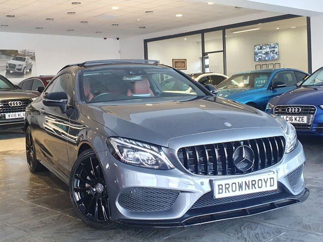 USED 2016 66 MERCEDES-BENZ C-CLASS 2.1 C 220 D AMG LINE PREMIUM 2d 168 BHP ++BRM BODY STYLING, PAN ROOF++