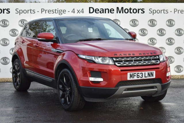 2013 63 LAND ROVER RANGE ROVER EVOQUE 2.2 SD4 PURE TECH 5d 190 BHP PANROOF BLACK PACK