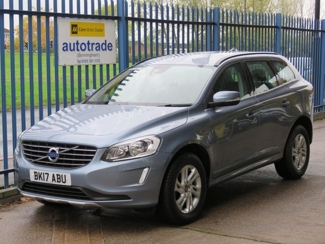 USED 2017 17 VOLVO XC60 2.0 D4 SE NAV 5d 188 BHP  AUTOMATIC, SAT NAV, ULEZ COMPLIANT 1 OWNER. VOLVO SERVICE HISTORY, AUTOMATIC, SAT NAV, HEATED BLACK LEATHER SEATS, CLIMATE CONTROL, CRUISE CONTROL, DAB RADIO, BLUETOOTH WITH USB, PARKING SENSORS