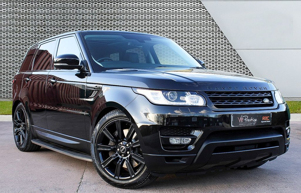 """USED 2014 64 LAND ROVER RANGE ROVER SPORT 3.0 SDV6 HSE 5d 288 BHP **BLACK PACK/PAN ROOF/21"""" ALLOYS**"""