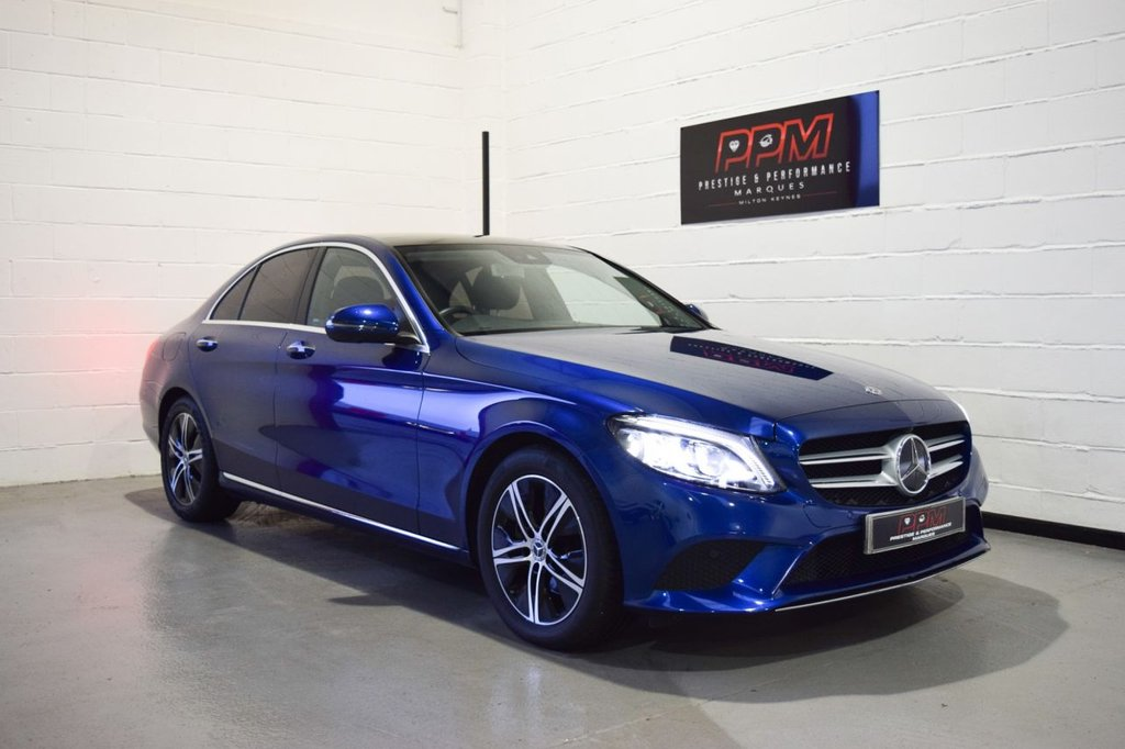 USED 2019 19 MERCEDES-BENZ C-CLASS 2.0 C 220 D SPORT PREMIUM PLUS 4d 192 BHP 360 Camera-Pan roof-VAT Quali