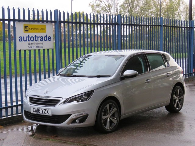 "USED 2016 16 PEUGEOT 308 1.2 PURETECH S/S ALLURE 5d 130 BHP SAT NAV, DAB, BLUETOOTH, 17"" ALLOYS, CLIMATE CONTROL AIR CONDITIONING, CRUISE CONTROL, USB & AUX-IN"