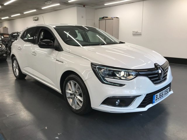 USED 2016 66 RENAULT MEGANE 1.2 DYNAMIQUE NAV TCE 5d 130 BHP TOUCHSCREEN SATNAV, BLUETOOTH PHONE AND AUDIO, REAR PARKING SENSORS, AMBIENT LIGHTING, DRIVING ASSISTANCE, 1 OWNER FROM NEW