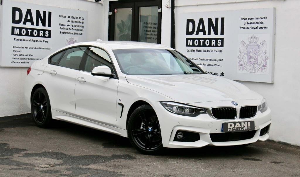 USED 2017 17 BMW 4 SERIES 2.0 420d M Sport Gran Coupe (s/s) 5dr 1 OWNER*BIG SATNAV*PARKING AID