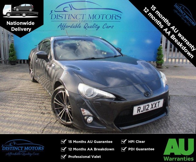 USED 2012 12 TOYOTA GT86 2.0 D-4S 2d 197 BHP