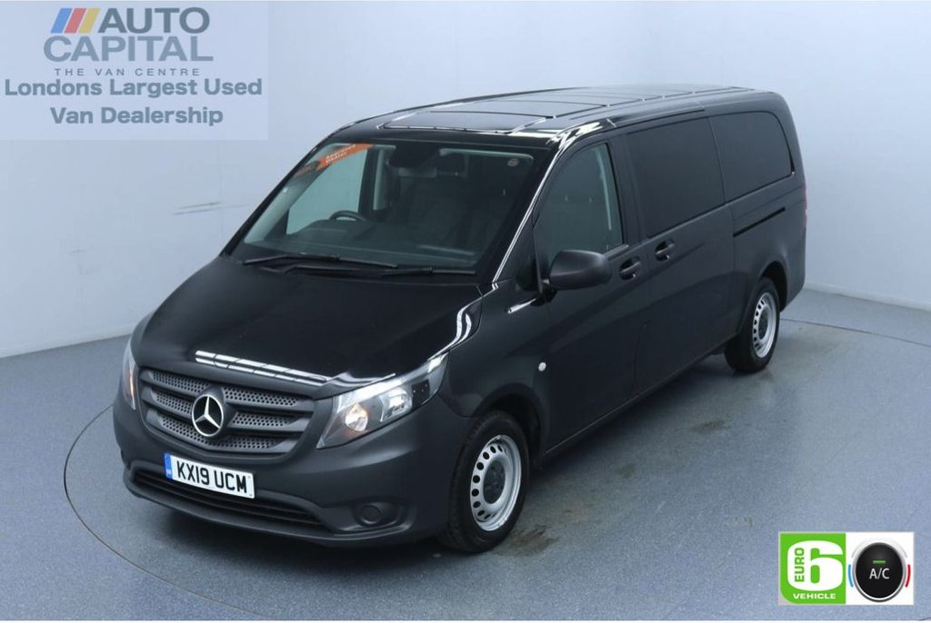 USED 2019 19 MERCEDES-BENZ VITO 2.1 114 Bluetec Tourer Pro 136 BHP X-LWB 9 Seats Minibus Low Emission 9 Seats | Air Con | Reversing camera