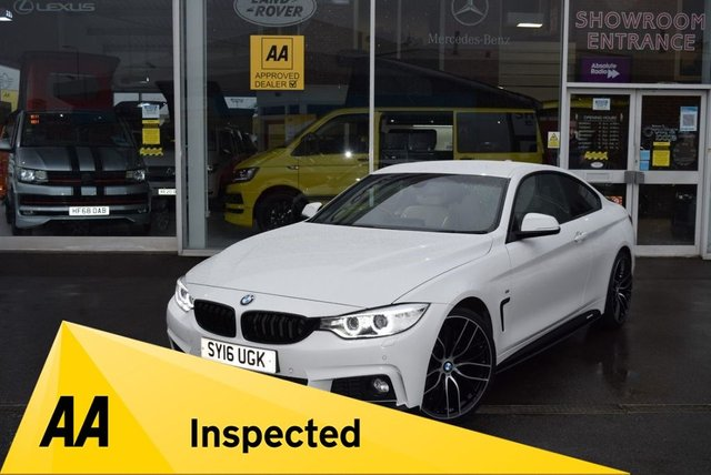 USED 2016 16 BMW 4 SERIES 2.0 420I M SPORT 2d 181 BHP FINANCE TODAY WITH NO DEPOSIT - SERVICE HISTORY