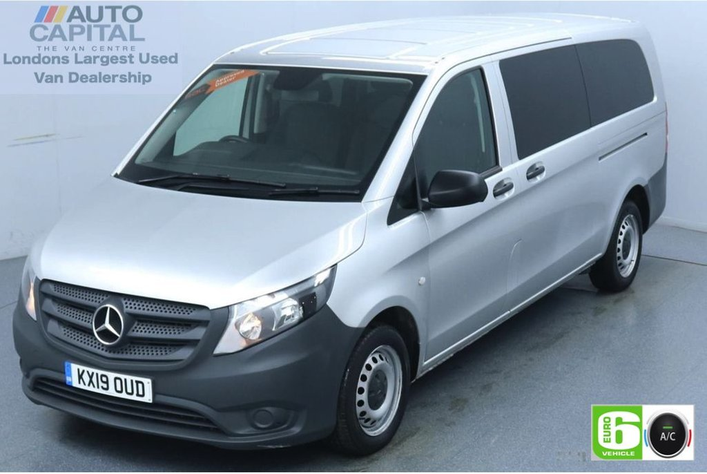 USED 2019 19 MERCEDES-BENZ VITO 2.1 114 Bluetec Tourer Pro 136 BHP X-LWB Auto Minibus Low Emission 9 Seats | Air Con | Reversing camera