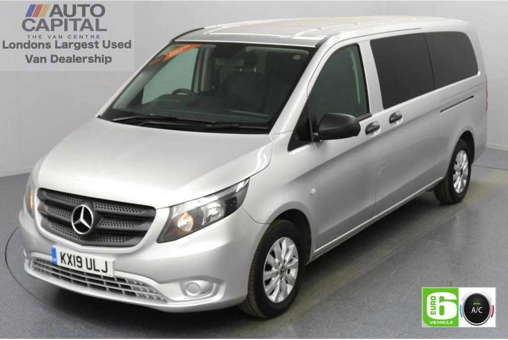 USED 2019 19 MERCEDES-BENZ VITO 2.1 114 Bluetec Tourer Select 136 BHP X-LWB Auto Minibus Automatic | Reversing Camera | TEMPMATIC Air Conditioning | 9 Seats |  Privacy Glass