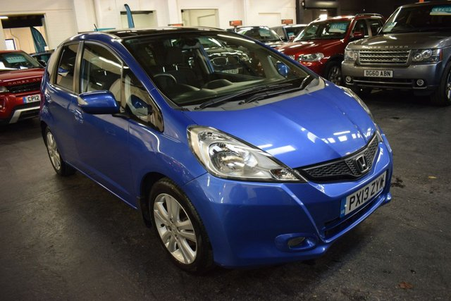 USED 2013 13 HONDA JAZZ 1.3 I-VTEC EX 5d 98 BHP LOW MILES - TOP EX SPEC - ONE PREVIOUS KEEPER - GLASS PANORAMIC ROOF - ALLOYS - A/C - CRUISE - BLUETOOTH