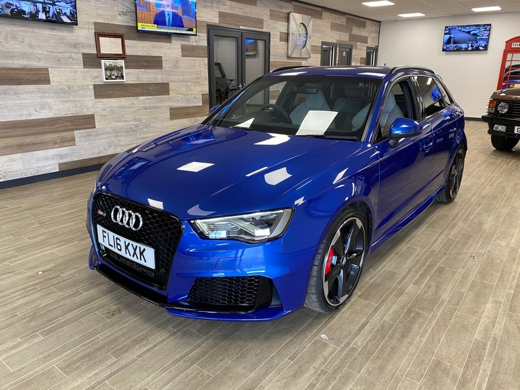 USED 2016 16 AUDI A3 2.5 RS3 SPORTBACK QUATTRO NAV 5d 362 BHP JUST ARRIVED FULL LEATHER ONE OWNER FSH TWO KEYS VERY NICE VEHICLE FREE HOME DELIVERY CONTACTLESS CALL US ON 07785902621 AFTERHOURS CLICK & COLLECT OPTION OR FREE HOME DELIVERY