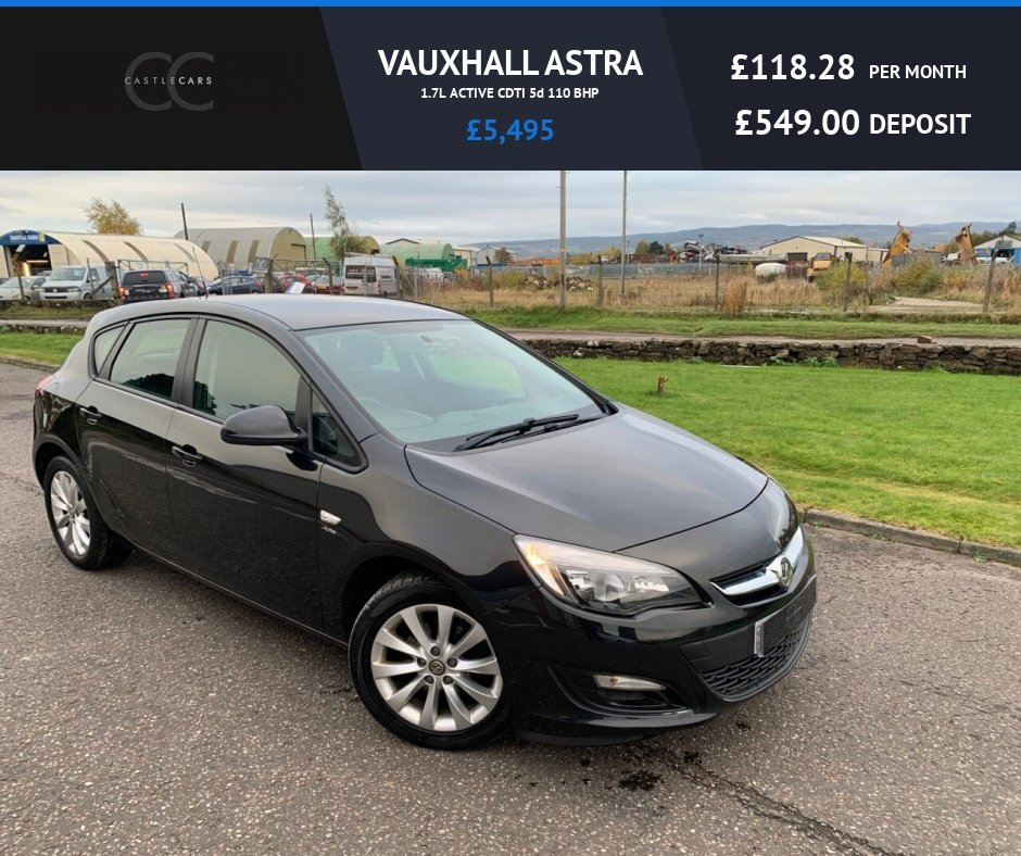 USED 2012 62 VAUXHALL ASTRA 1.7L ACTIVE CDTI 5d 110 BHP