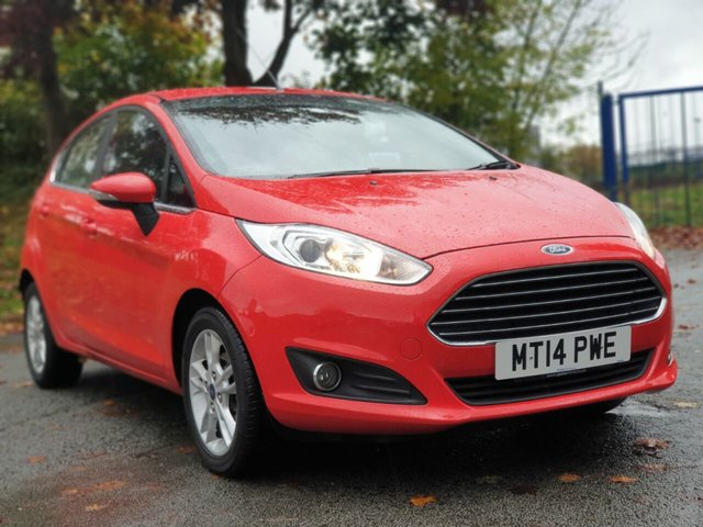 USED 2014 14 FORD FIESTA 1.2 ZETEC 5d 81 BHP 1 FORMER KEEPER+2 KEYS+£30 TAX+FSH WITH FORD+ALLOYS+MEDIA+AIRCON+BLUETOOTH+ELECTRICS+RECENT MOT AND SERVICE WITH FORD+