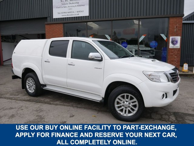 USED 2015 65 TOYOTA HI-LUX 2.5 ICON 4X4 D-4D DCB 142 BHP CLICK & COLLECT ONLINE AT C H RENDER.