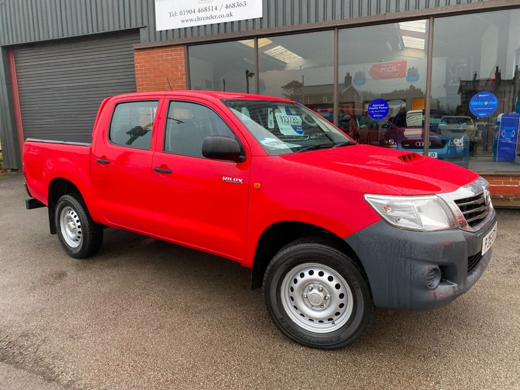 USED 2015 15 TOYOTA HI-LUX 2.5 ACTIVE 4X4 D-4D DCB 142 BHP CLICK & COLLECT ONLINE AT C H RENDER.